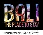 bali indonesia summer tourism.... | Shutterstock .eps vector #684519799