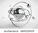 stylized image of a silver... | Shutterstock . vector #684520459