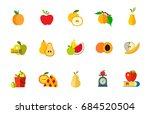fruit diet icon set   Shutterstock .eps vector #684520504