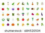vegan food icon set   Shutterstock .eps vector #684520534