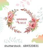 flower wreath sale | Shutterstock .eps vector #684520831