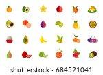 fruit icon set | Shutterstock .eps vector #684521041
