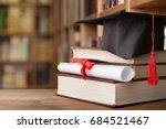 cap graduation. | Shutterstock . vector #684521467