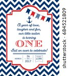 nautical sailor theme printable ... | Shutterstock .eps vector #684521809