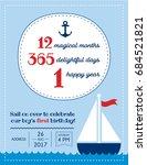 nautical sailor theme printable ... | Shutterstock .eps vector #684521821