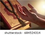 man pray.   Shutterstock . vector #684524314