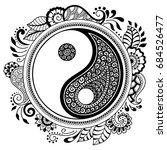 circular pattern in form of... | Shutterstock .eps vector #684526477