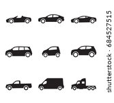 cars icons set | Shutterstock .eps vector #684527515