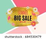 summer sale abstract banner...   Shutterstock .eps vector #684530479