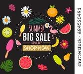 summer sale abstract banner... | Shutterstock .eps vector #684530491
