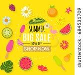 summer sale abstract banner...   Shutterstock .eps vector #684531709