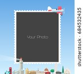 collage of photo frames for... | Shutterstock .eps vector #684532435