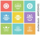 summer holidays  labels and... | Shutterstock .eps vector #684533431