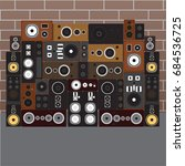 sound speaker wall | Shutterstock .eps vector #684536725