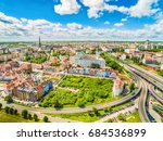 Szczecin - the old town from the bird