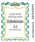 frame and border  with the coat ... | Shutterstock .eps vector #684540094