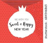 jewish holiday rosh hashanah... | Shutterstock .eps vector #684546865