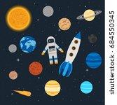 vector illustration. planets of ... | Shutterstock .eps vector #684550345