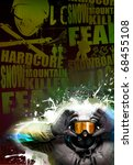 disco or tour snowboard poster  ... | Shutterstock . vector #68455108