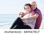 mature positive european couple ... | Shutterstock . vector #684567817
