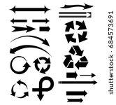 vector set of different arrows... | Shutterstock .eps vector #684573691
