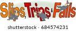 illustration of the words  slip ... | Shutterstock . vector #684574231