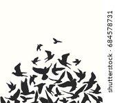 birds silhouette vector... | Shutterstock .eps vector #684578731