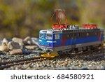 model electric locomotive in... | Shutterstock . vector #684580921