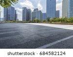 empty floor with modern...   Shutterstock . vector #684582124