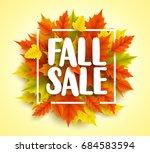 fall sale text vector banner...   Shutterstock .eps vector #684583594