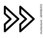 double next arrow | Shutterstock .eps vector #684586531