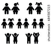 children icon set illustration on white color | Shutterstock vector #684587215