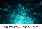 abstract connected dots on... | Shutterstock . vector #684587539