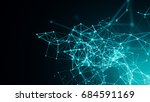abstract connected dots on... | Shutterstock . vector #684591169