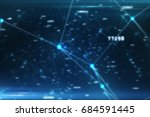 futuristic abstract connections ... | Shutterstock . vector #684591445