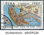 cuba   circa 1980  a stamp... | Shutterstock . vector #68459236