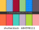 collection of geometric... | Shutterstock .eps vector #684598111