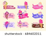 set of logo and  label. element ... | Shutterstock . vector #684602011