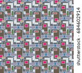abstract color seamless pattern ... | Shutterstock .eps vector #684602914
