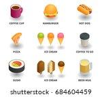 simple set of 3d isometric... | Shutterstock .eps vector #684604459