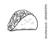 sketch hand drawn illustration... | Shutterstock .eps vector #684604594