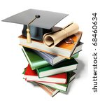 graduation mortar on top of...   Shutterstock . vector #68460634