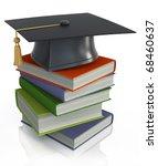 graduation mortar on top of... | Shutterstock . vector #68460637