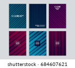 set of cover design with... | Shutterstock .eps vector #684607621