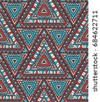 vector seamless ethnic pattern | Shutterstock .eps vector #684622711
