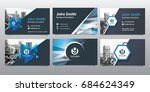 city background business card... | Shutterstock .eps vector #684624349
