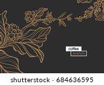 template of golden branch of... | Shutterstock .eps vector #684636595