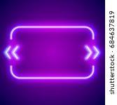 retro hipster neon glowing... | Shutterstock . vector #684637819