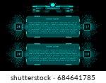 hud futuristic microprocessor...