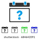 unknown calendar page flat... | Shutterstock .eps vector #684642091
